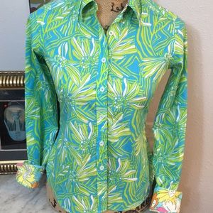 So Cute Lilly Pulitzer Long Sleeve Floral Print 0!